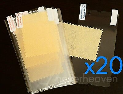 20x New Clear LCD Guard Screen Protector For Sony Xperia Z L36H (C6603) + Cloth
