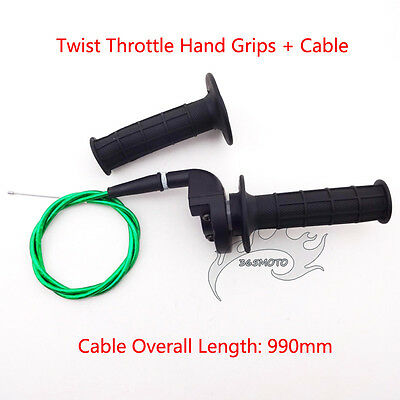 Throttle Housing Twist Handle Hand Grips Cable For Pit Dirt Bike XR CRF 50 70