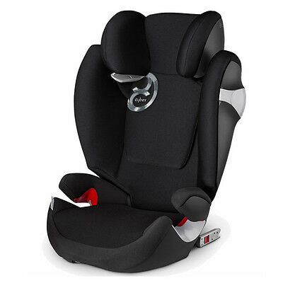 Cybex Black Solution M-Fix Booster Car Seat, Weight limit: 40-110 lbs -NEW