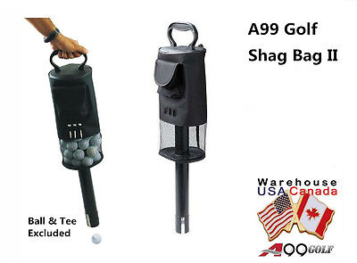 A99 Golf Shag Bag Ball Pick up with Convenient Pocket and Tee Holder