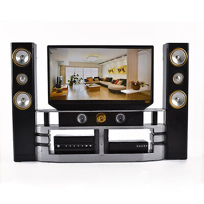 New Hi-Fi TV Cabinet Set Combo for Barbie Doll's House Furniture Living Room