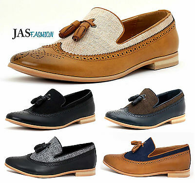 Mens Smart Casual Shoes Comfortable Italian Slip On Tassel Dress Office UK Size