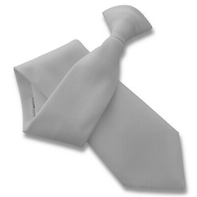 Matt White Security Guard or Bouncer Clipper Clip On Snapper Uniform Tie