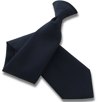 Matt Navy Blue Security Guard or Bouncer Clipper Clip On Snapper Uniform Tie