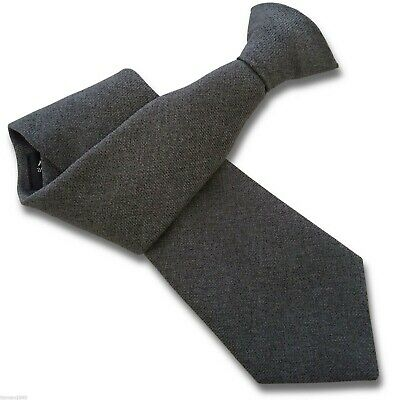 Matt Grey Security Guard Safety Bouncer Clipper Clip On Workwear Snapper Tie