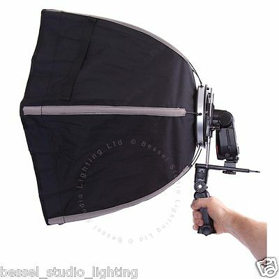 Bessel - 60cm Hexagonal Softbox for Flashgun with 2 diffusers and carry bag