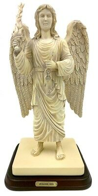Archangel Uriel Holding Fiery Sword and Keys to Hades Statue Large 13H A-023S