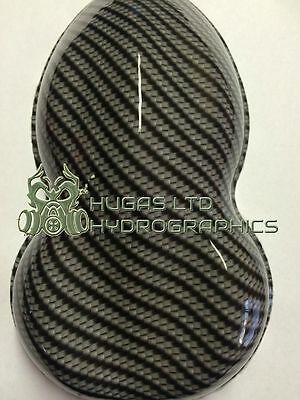 Hydro Dipping Film HYDROGRAPHICS CARBON FIBRE V6 BLACK  ROLLED ONLY!
