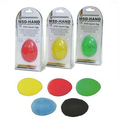 MSD Squeeze Egg Hand Exercise 5 Strength Therapy Resistance Finger Injury Stress
