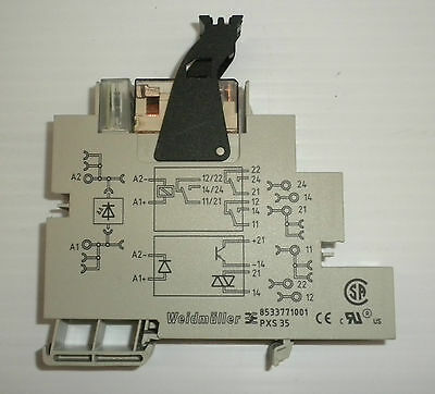Weidmuller Pxs35 Pxs 35 Plugseries Relay Socket W/ Rcl424024 24Vdc 8A 2Co Module