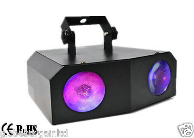 Music Active Dual Rotating LED Stage Lighting Club DJ Party Disco Lights Home
