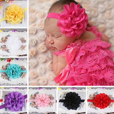 Newborn Baby Infant Girl Toddler Bow Headband Hairband Headwear Hair Accessories