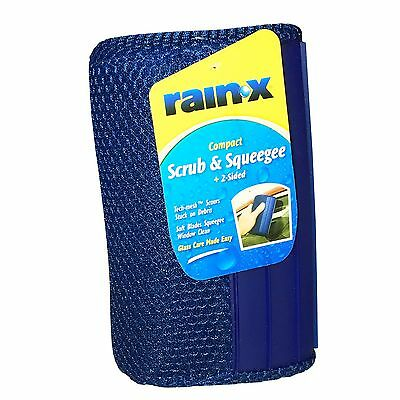 Rain-X Compact SCRUB & SQUEEGEE • Quickly Cleans ALL Glass • Mirror • Surfaces