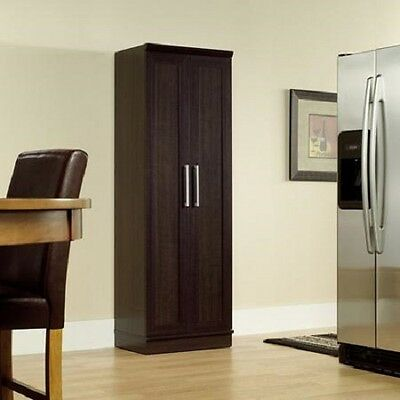 Cabinet Pantry Storage Tall Wood Kitchen Cupboard Closet 4 Adjustable