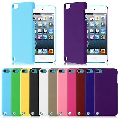 Protective Thin Hard Rubberized Plastic Case Cover For iPod Touch 5th 6th Gen
