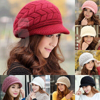 New Fashion Womens Lady Baggy Beanie Hat Winter Crochet Warm Knitted Cap
