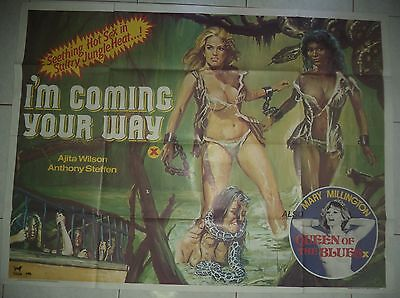 I'm Coming Your Way 1980 Uk Tigon Quad Poster Tom Chantrell Art