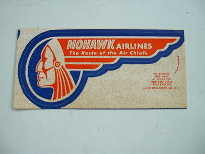 ORIGINAL 1950s US AIRLINE LABEL MOHAWK AIRLINES – AN EARLY SELF ADHESIVE TYPE