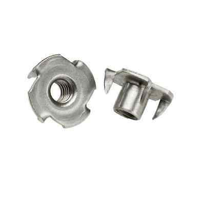 M5 M6 M8 M10 4-Pronged Tee Nut, Captive T Nut in Stainless Steel
