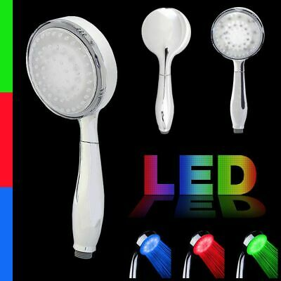 LED Shower Handset in Chrome | Single One Function Mode | No Batteries Required