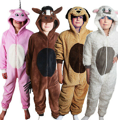 UK Childrens Luxury Animal Onesey KIDS ALL IN ONE Pug Monkey Suit Boys Girls