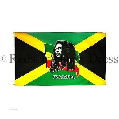 Bob Marley Jamaica Flag 5Ft X 3Ft Official High Quality Denier Flags