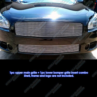 Fits 2009-2014 Nissan Maxima Billet Grille Grill Combo Insert 10 11 12 13