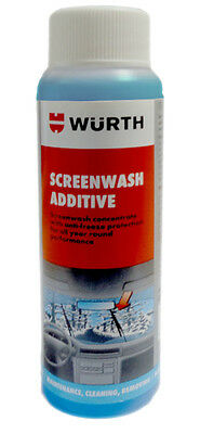 Genuine Wurth Screenwash Anti Freeze Concentrated Additive 125ml Clean & Protect