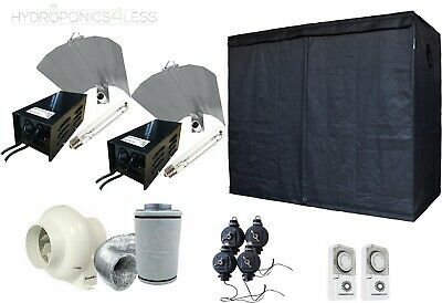 Great Complete Hydroponic Grow Room Tent Fan Filter 2x600w Light Kit 120x240x200