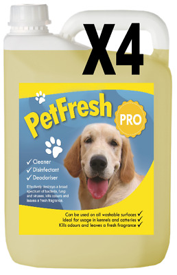4X5L One Million Pet Cattery Kennel Disinfectant Deodoriser Clean Odour Dog V47