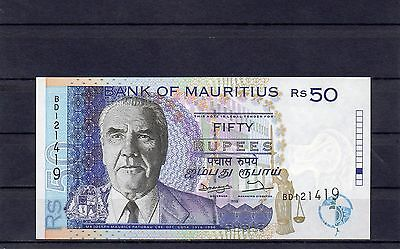 MAURITIUS Africa 50 Rupees 1998 UNC p-43 Error Note Withdrawn