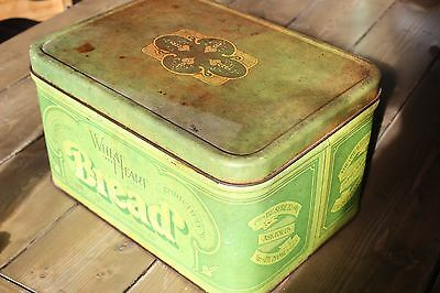 Vintage Wheat Heart Bread Box Tin Decor