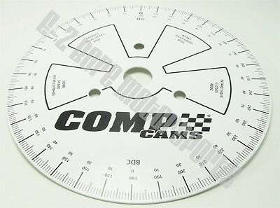 "Comp Cams GP4790 9"" Diameter Automotive Degree Wheel for Camshaft Set-Up Engines"
