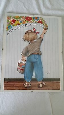 "Mary Engelbreit Framed Poster ""Anything is Possible"" 14"" x 11"" ME"