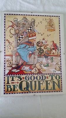 "Mary Engelbreit Framed Poster ""It's Good to be Queen"" 14"" x 11"" ME"