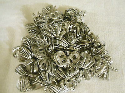 500 Aluminum Pull Tabs All Silver Off of Beer & Pop Cans CRAFTS SEWING LOTS