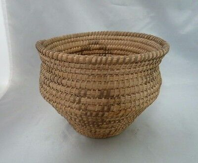 "Native American Weave Basket Bowl. Very Nice Design. Approx 5.25"" Tall"