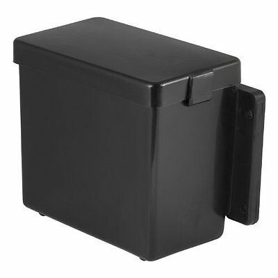 Lockable Battery Box Plastic Case Protects Corrosion Bolt-on Mount Car RV Black