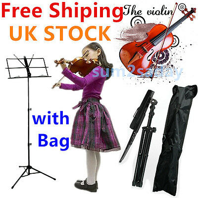 Heavy Duty Sheet Music Metal Stand Holder Folding Foldable with Carry Case BagSA