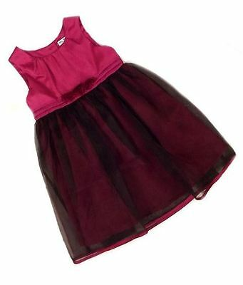 Ex M & S Baby Girls Purple Christmas Party Lined Dress Age 12 18 24 Months
