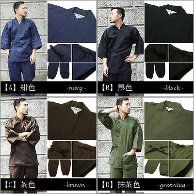 New Japanese Unisex Traditional Work Wear SAMUE for Spring Summer 100% Cotton