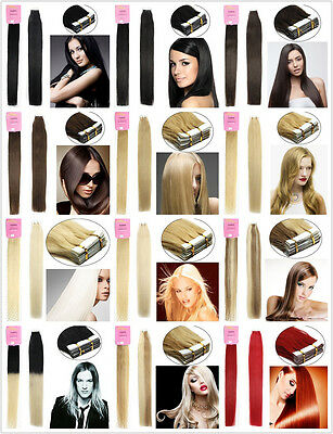 Various Brand Straight 7A Remy Tape in Human Hair Extensions 16''-24'' UK Stock