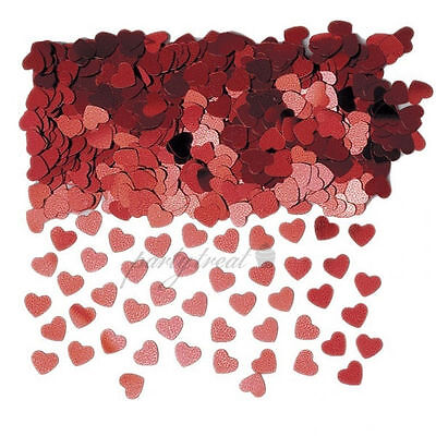 Red Hearts Wedding Confetti Party Supplies Wedding Table Scatters Decorations