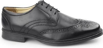 Cotswold MICKLETON Mens Lace Up Leather Derby Office Smart Brogue Shoes Black