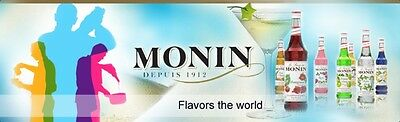 Monin Coffee Syrups (Costa) 1 Litre Plastic / Glass Bottles