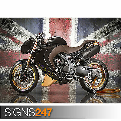 BIKE POSTER Photo Picture Poster Print Art A0 to A4 TRIUMPH ROCKET III AC374
