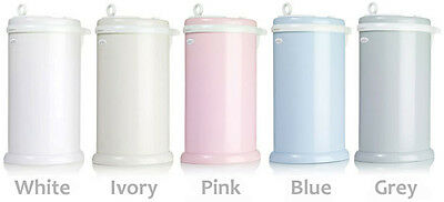 Ubbi Steel Diaper Can Pail for Cloth or Disposable Diapers - White, Sand or Grey