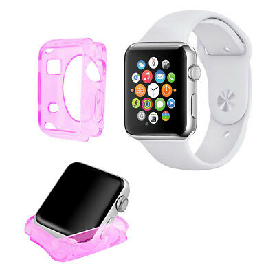 Funda Carcasa Gel Rosa Silicona Para Apple Watch / Sport / Edition 38 Mm.