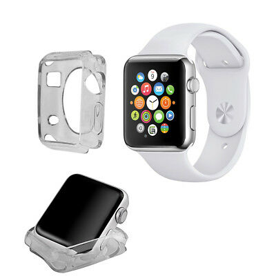 Funda Carcasa Gel Negra Silicona Para Apple Watch / Sport / Edition 38 Mm.