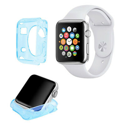 Funda Carcasa Gel Azul Celeste Silicona Apple Watch / Sport / Edition 38 Mm.